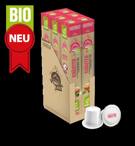 Kräuter BIO Tee - 60 Kapseln La Natura Lifestyle