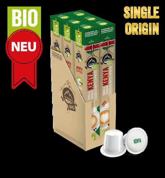 Kenya Plantagen Single Origin BIO Kaffee - 60 Kapseln La Natura Lifestyle