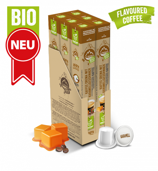 Crema BIO Kaffee Karamell Natural Flavor - 60 Kapseln La Natura Lifestyle BAG