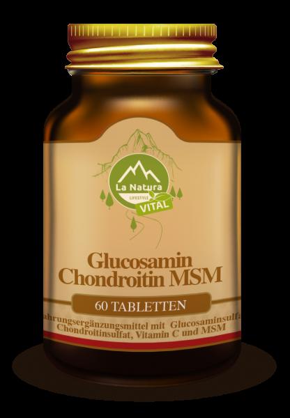 Glucosamin Chondroitin MSM Tabletten 60 Stück La Natura Lifestyle VITAL