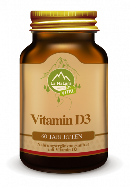 Vitamin D3 Tabletten 60 Stück La Natura Lifestyle VITAL