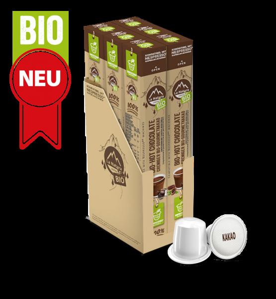 Hot Chocolate Cremiger BIO Gormet KAKAO - 60 Kapseln La Natura Lifestyle