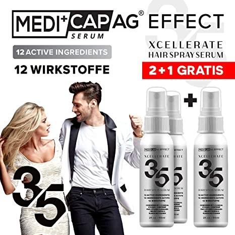 Medicap Effect - Xcellerate 35 Haar Spray-Serum für 3 Monate 2+1 GRATIS