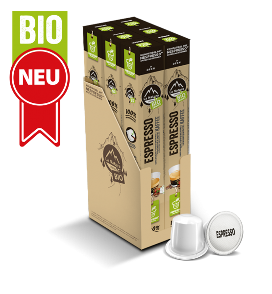 Espresso BIO Kaffee - 60 Kapseln La Natura Lifestyle