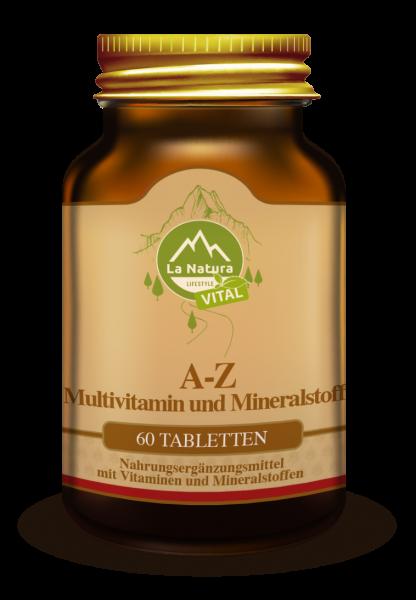 A-Z Multivitamine und Mineralstoffe Tabletten 60 Stück La Natura Lifestyle VITAL