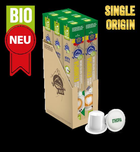 Ethiopia Plantagen Single Origin BIO Kaffee - 60 Kapseln La Natura Lifestyle