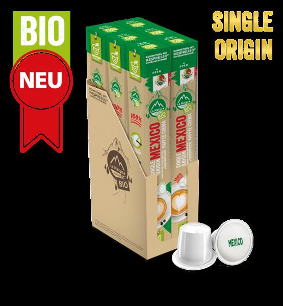 Mexico Plantagen Single Origin BIO Kaffee - 60 Kapseln La Natura Lifestyle
