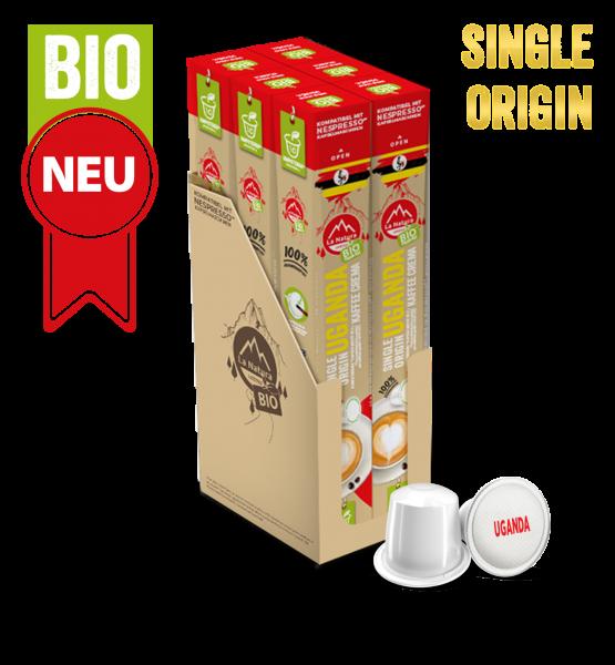 Uganda Plantagen Single Origin BIO Kaffee - 60 Kapseln La Natura Lifestyle